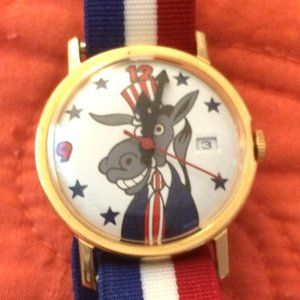Political Democrat Donkey Date Watch